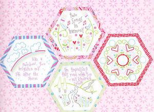 Best-Friends-Forever-8-stitchery-BOM-hexagons-PATTERN-preprinted-fabric