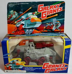 GALAXY GIANTS VTG 80'S RETRO FRICTION ROBOT ZOID PULL BACK ACTION SEALED BOX A