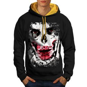 Hoodie gold Face New Black Contrast Joker Hood Skeleton Skull Men wXaq7Aq8nR