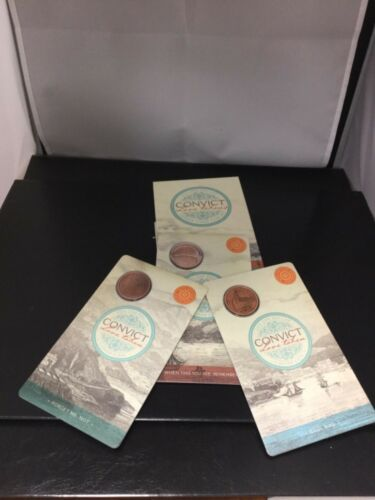 2016 $1 convict love tokens set of 3 Antique finish coins includes outer folder