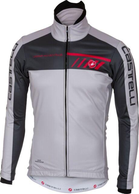 Castelli Velocissimo Men's Windstopper Cycling Jacket Size Grey Large