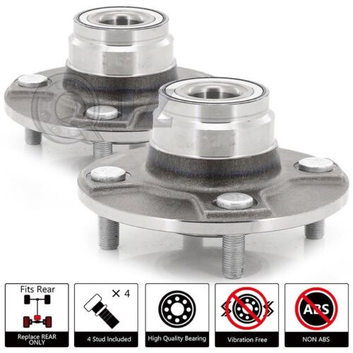 Wheel Hub OE Replacement REAR PAIR For 1991-1996 Infinite G20 Non-ABS Model