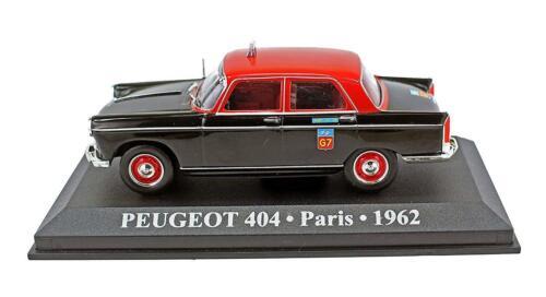 PEUGEOT 404 PARIS FRANCESE TAXI Diecast Auto 1//43 SCALA RARO