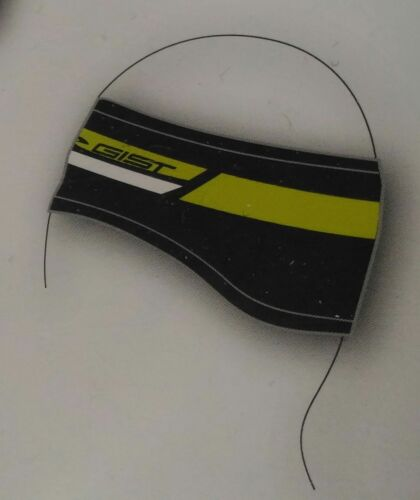BAND GIROFRONTE GIST IN WINDTEX color BLACK YELLOW FLUO one size