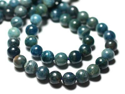 10pc 87411400221 Perles de Pierre Apatite Boules 4mm bleu vert paon canard