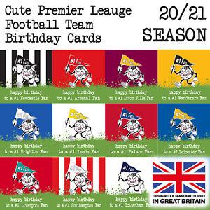 Premier League Football Team Birthday Cards, ALL 2020 ...