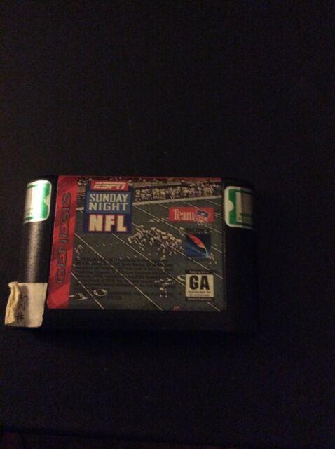 ESPN Sunday Night NFL - SEGA Genesis game Cartridge Only Football GA