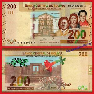 BOLIVIA-200-Bolivianos-2019-NEW-DESIGN-Pick-New-SC-UNC