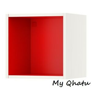 Superieur Image Is Loading Ikea Tutemo Open Cabinet Box White Red