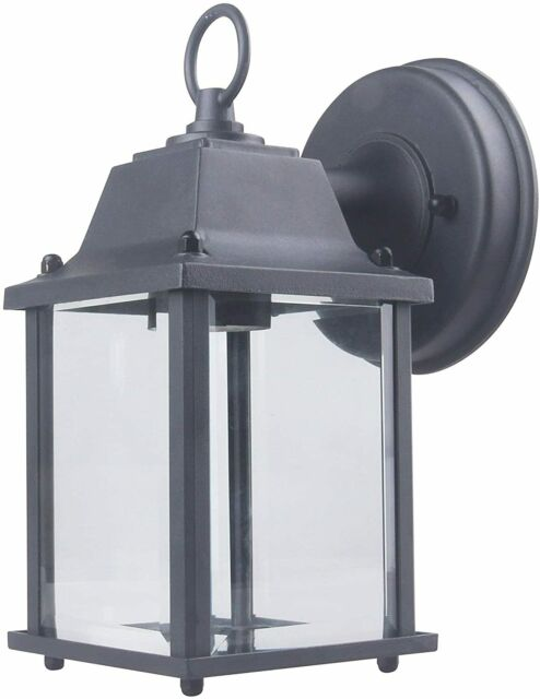 CORAMDEO Outdoor Wall Porch Light - Black Powdered Coat Cast Aluminum
