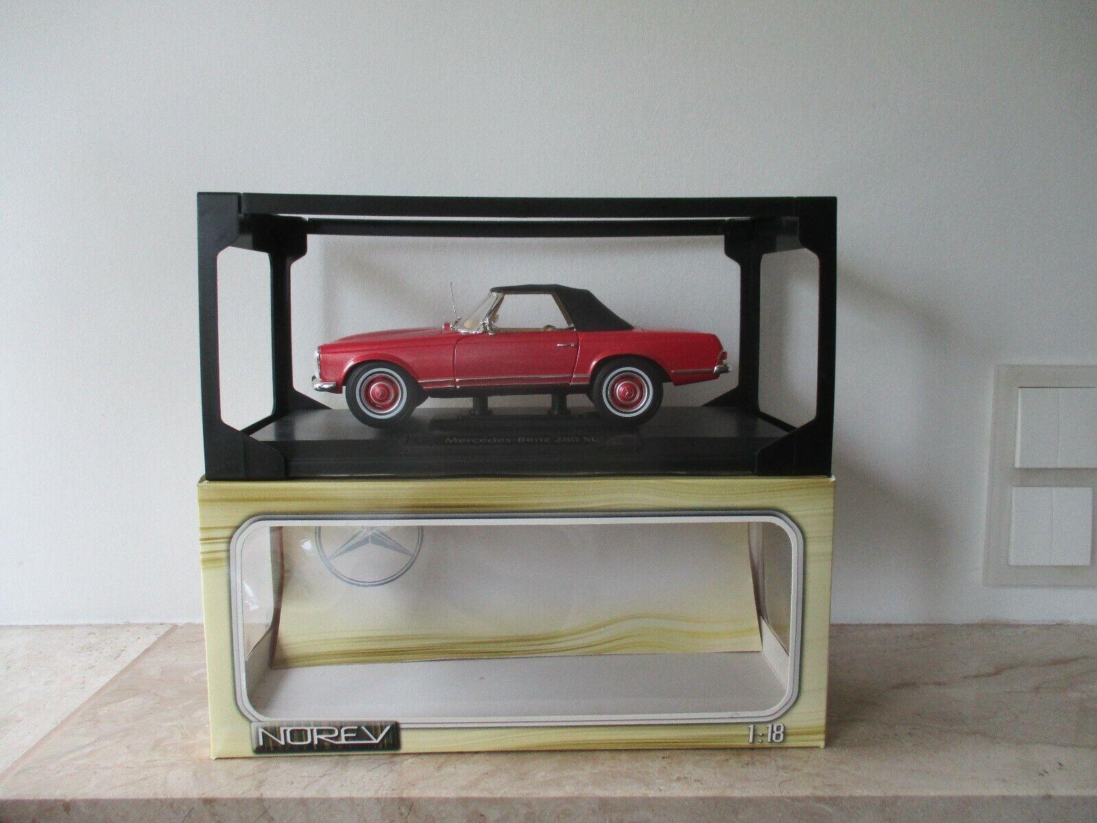 Antiguo coche modelo norev mercedes-benz 280 sl 1 18 con embalaje original