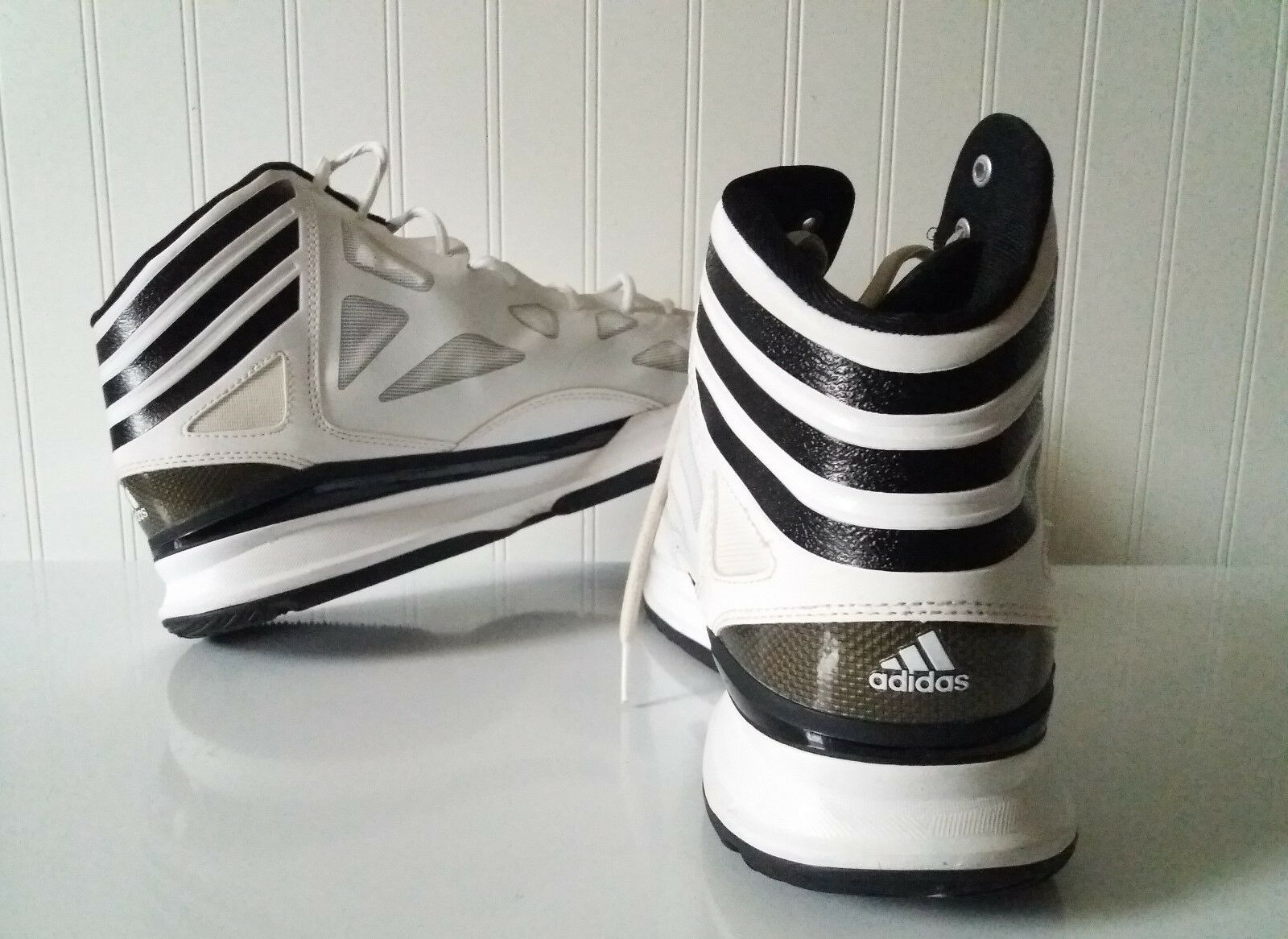 Price reduction Adidas US size 16 White with Black Stripes Men's Shoe Cheap women's shoes women's shoes