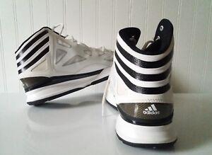 7acd8d076bda8 New) Adidas US size 16 White with Black Stripes Men s Shoe