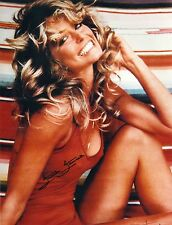Farrah Fawcett (Nip Poke) Charlie's Angels 70's PIN UP POSTER SIGNED RP 8X10 WOW