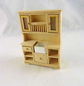 Dollhouse Miniature Unfinished Half Scale Euro Kitchen ...