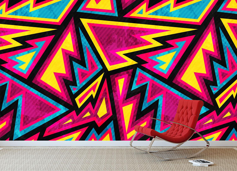 3D color Lightnings 7 Wall Paper Murals Wall Print Wall Wallpaper Mural AU Lemon
