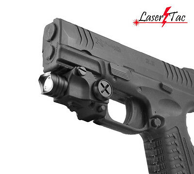 Lasertac Subcompact LED Flashlight for Springfield XD40 XD-S XDM S&W M&P Pistols