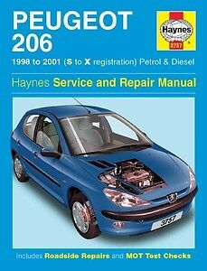 haynes owners workshop car manual peugeot 206 petrol diesel 98 rh ebay co uk Peugeot 206 2015 Manual Peugeot Service Manual