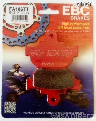 """EBC """"TT"""" FRONT Brake Pads (FA106TT) fits Suzuki VL250 Intruder (2000 to 2007)"""