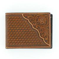 Nocona Western Mens Wallet Leather Pro Bifold Tooled Saddle N5446708