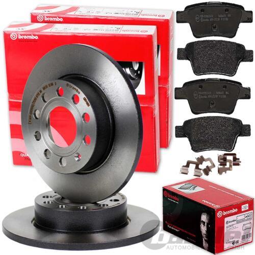 Brembo discos de freno pastillas freno freno trasera 2.2 d Toyota Avensis t25