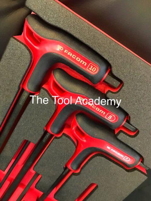 FACOM Tee Handle POWER HEX ALLEN KEY SET 3mm 4mm 5mm 6mm 7mm 8mm Boxed