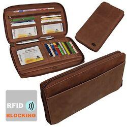 BOCCX Tickettasche Reise Organizer RFID Reisebrieftasche Leder Reiseorganizer