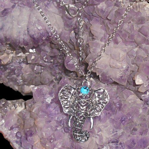 Collier pendentif tête d/'elephant
