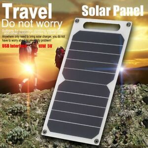 5V-10W-Portable-Solar-Power-Charging-Panel-USB-Charger-For-Samsung-IPhone-Tablet