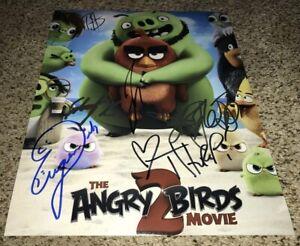 Angry Birds 2 Signed Cast 11x14 Photo X6 Jojo Siwa, Josh Gad