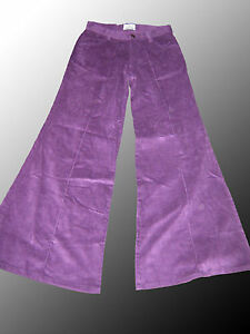 Image Is Loading Purple Corduroy FLARES 60s 70s Trousers Pants