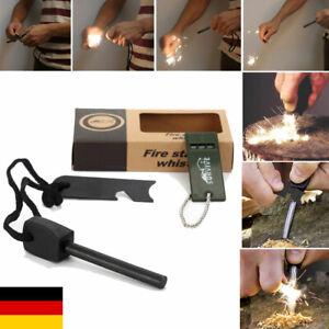 Feuerstein Zündstein Survival Feuerstarter Feuerstahl Magnesiumzünder Schaber