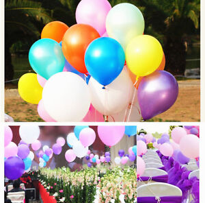 12 PEARLISED HELIUM Latex Balloons Party Supplies Wedding Birthday