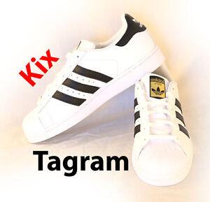 size 40 e8cd1 5973c Details about Adidas Superstar Originals White Black Gold C77154 / C77124  Kids Womens