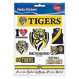 NEW Official Richmond Tigers Sticker Sheet