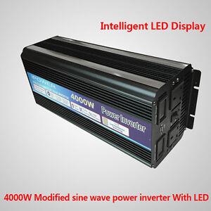 4000w 8000w peak power inverter dc 12v to ac 230v. Black Bedroom Furniture Sets. Home Design Ideas