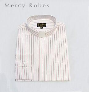 Men/'s Black Neckband Clergy Shirt Includes Soft Collar Pastor Standard Cuff