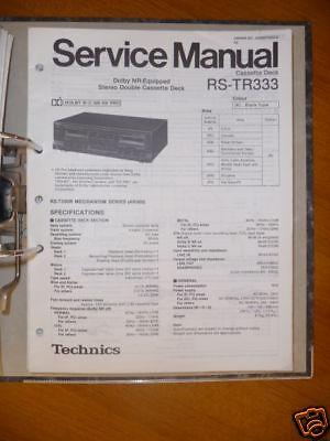 Professioneller Verkauf Service-manual Technics Rs-tr333 Tape Deck,original Tv, Video & Audio