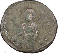 JESUS CHRIST Class C Anonymous Ancient 1034AD Byzantine Follis Coin  i38007
