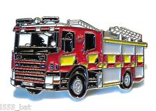 Fire Brigade Fire Engine Metal Enamel 30mm Fireman Emergency Service Badge