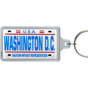 Washington-D-C-License-Plate-Acrylic-Rectangular-Souvenir-Keychain-2-25-034-X-1-25
