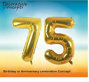 Image Is Loading Giant 75th Birthday Party 40 034 Foil Balloon