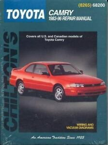 total car care repair manuals toyota camry 1983 96 by chilton rh ebay com