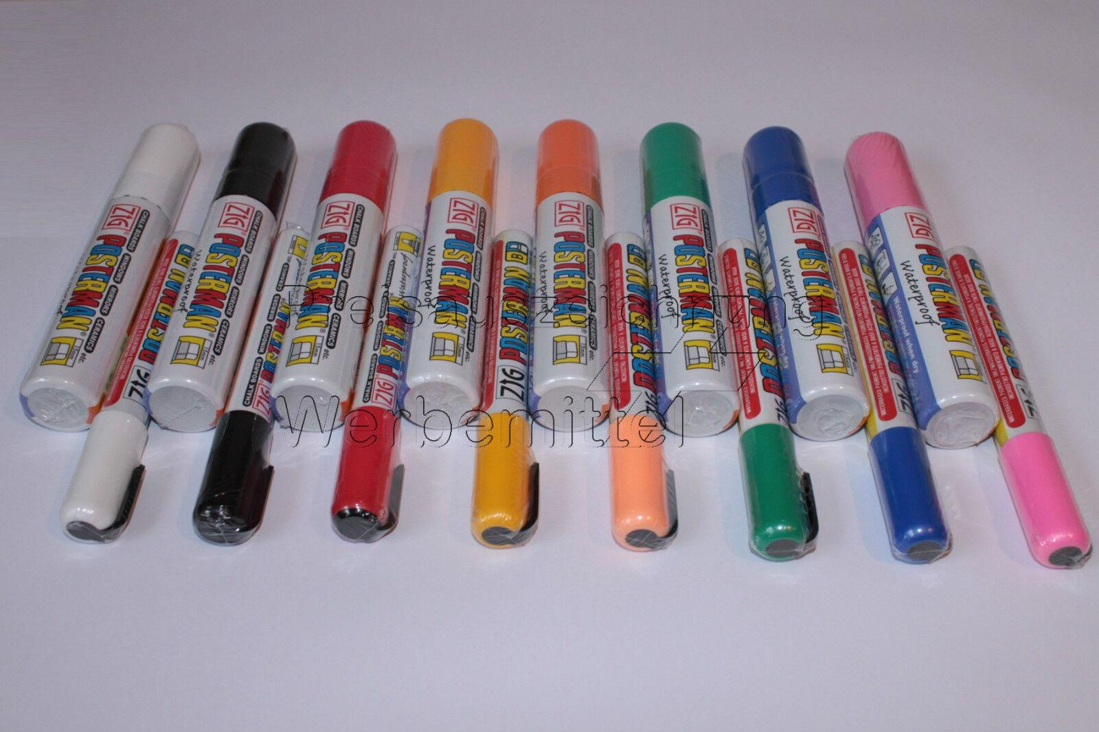 Glasschreiber ZIG Posterman 5mm oder oder oder 15mm Postermarker, 8 Farben - frei wählbar | Schnelle Lieferung  42fff2