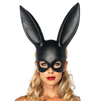 Black Masquerade Bunny Rabbit Ariana Grande Mask Adult Halloween Costume