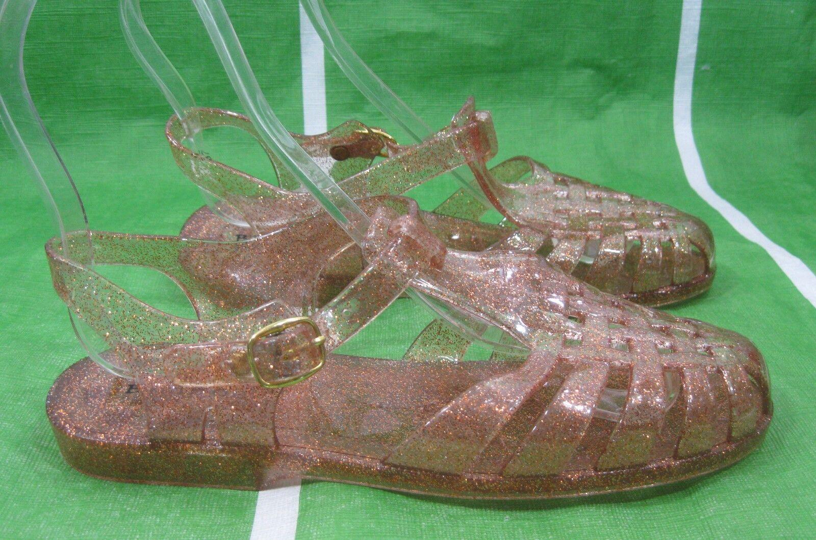Womens Brown Summer Beach Retro Sandal Flat Jellies Jelly Sexy Sandal Retro Size 6 1c141f