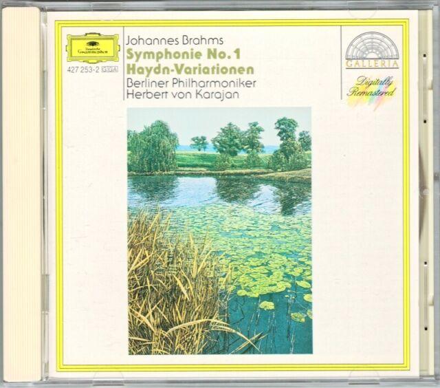 Herber von KRARJAN: BRAHMS Symphony No.1 Haydn Variations DG CD Berliner Phil
