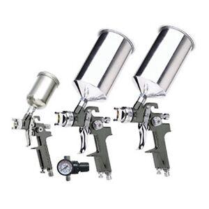 Titan Tools H.V.L.P. Triple Set-Up Spray Gun Kit, 4 pc - TTN 19220