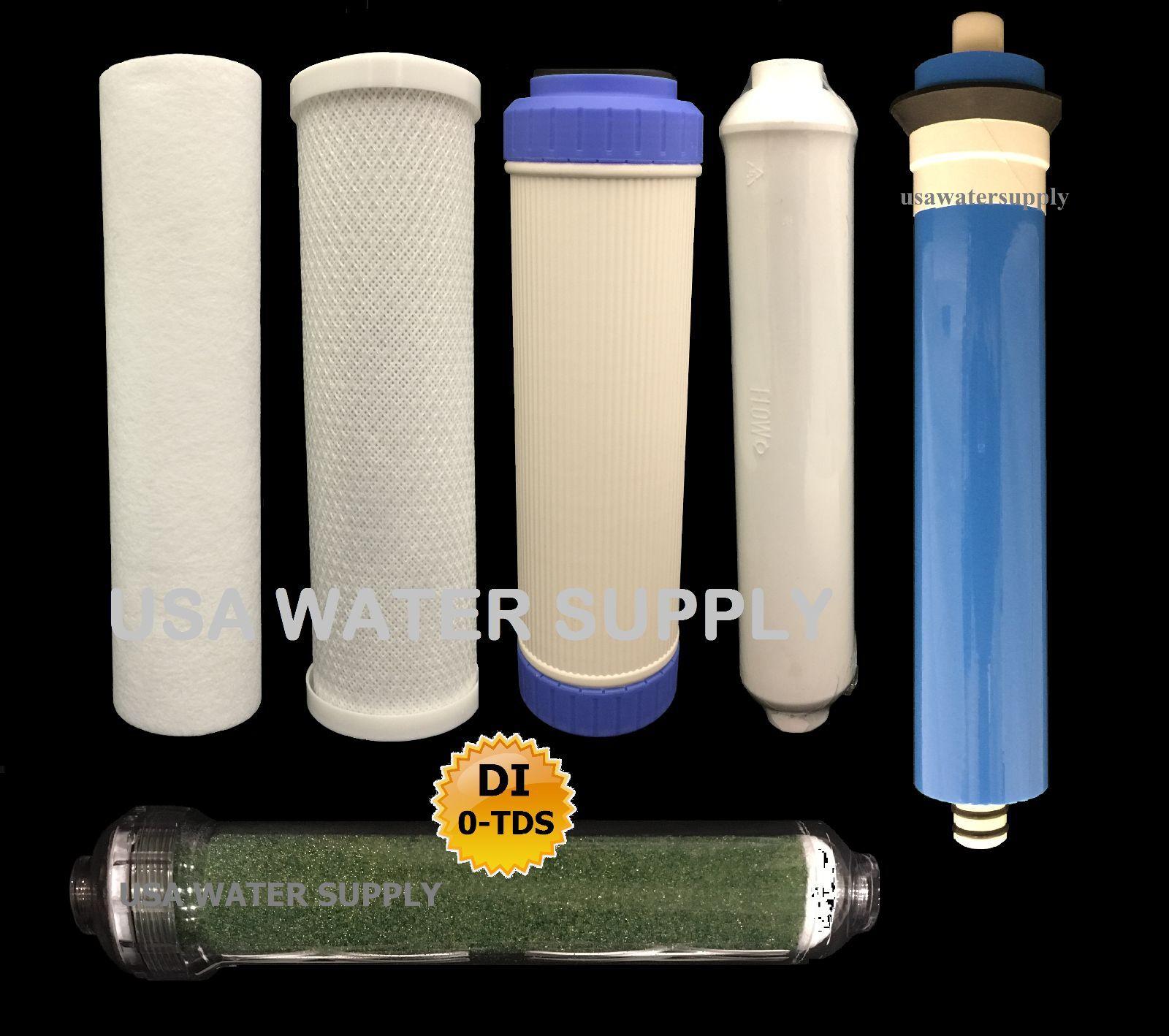 REVERSE OSMOSIS RO DI 6 FILTERS MEMBRANE REPLACEMENT 6 PC Set - 150 GPD Membrane