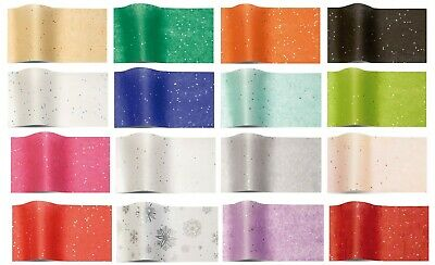 20 Gemstone Wrapping Tissue Paper Half Sheets ~ Sparkly Glitter Gem 35 X 45 Cm Groot Assortiment